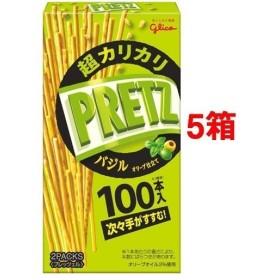 グリコ 超カリカリプリッツ バジルオリーブ仕立て ( 55g5箱セット )/ プリッツ(PRETZ)