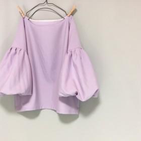 ウール混紡トップス「ムラサキ」「春夏用生地」【受注製作】色、サイズ有り