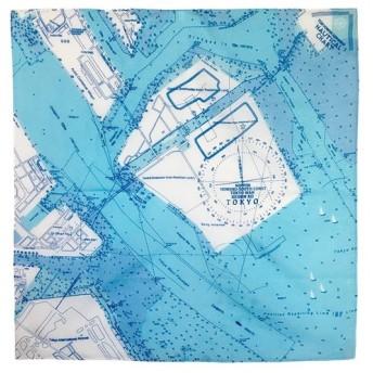 大好きな海を身に着けよう。 マップスカーフ 東京港海図