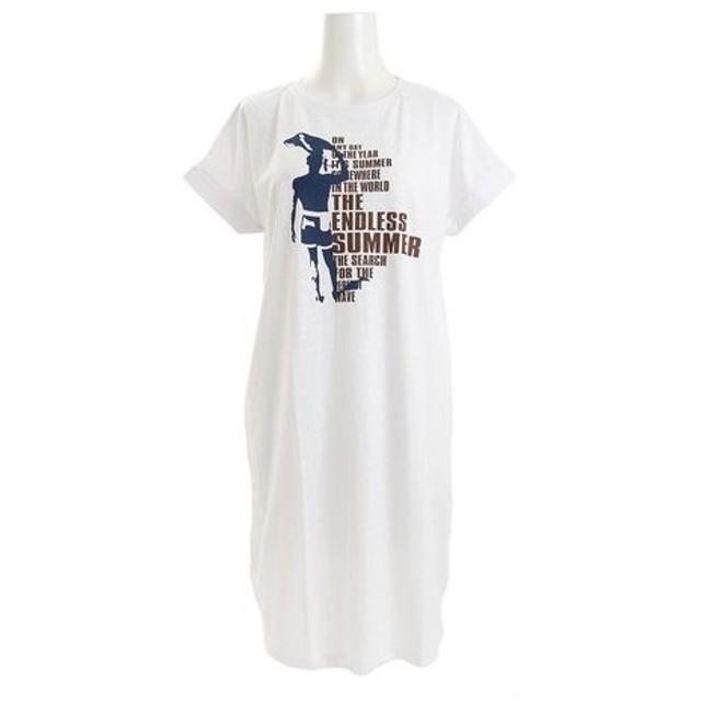 The Endless Summer 【多少の汚れ等訳あり大奉仕】ロング丈Tシャツ TESL004 WHT (Lady's)