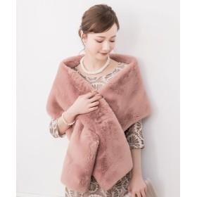 ドレス スター 着崩れ防止設計ボリュームファーショール レディース ピンク フリーサイズ 【DRESS STAR】