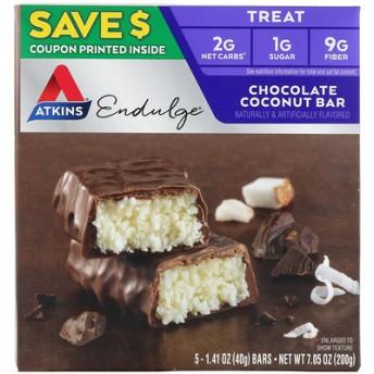 エンダルジ、チョコレートココナッツバー、5本、各1.41 oz (40 g)