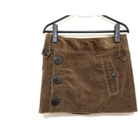 【中古】 バーバリーブルーレーベル ミニスカート サイズ36 S レディース ダークブラウン コーデュロイ