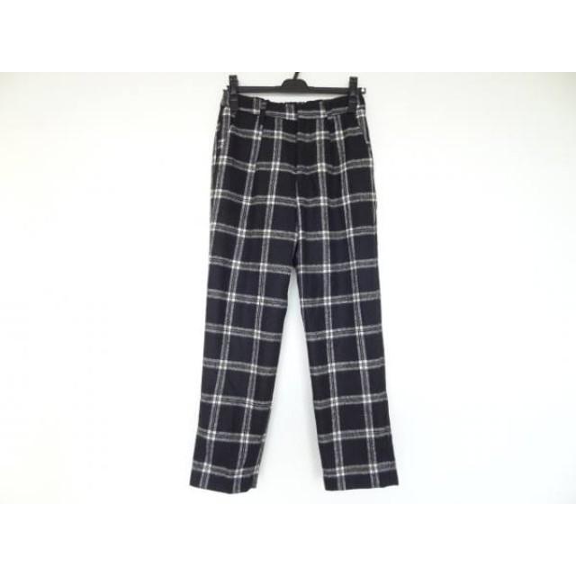 【中古】 アングリッド UNGRID パンツ サイズS レディース 黒 白 イエロー チェック柄