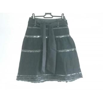 【中古】 トゥービーシック TO BE CHIC スカート サイズ38 M レディース 美品 黒 シルバー ベージュ