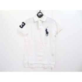 【中古】 ポロラルフローレン 半袖ポロシャツ サイズS メンズ ビッグポニー 白 ネイビー