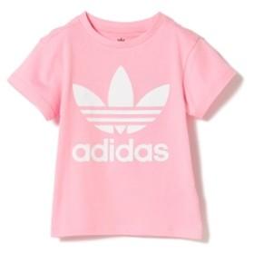 adidas / オリジナルス トレフォイル ロゴ プリント Tシャツ 19 (110~130) キッズ Tシャツ ライトピンク/ホワイト 130