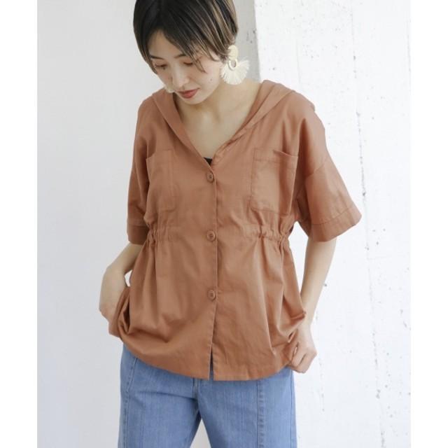 4be3ae7b9ecc7 マルイ]【セール】レディスシャツ(ドロストフーディーシャツ)/KBF(KBF ...