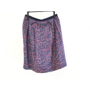 【中古】 エストネーション ESTNATION ミニスカート サイズ36 S レディース ネイビー ピンク bis