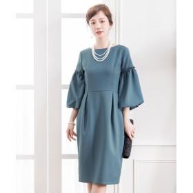 ドレス スター ふんわりバルーンスリーブワンピース レディース ブルー Sサイズ 【DRESS STAR】