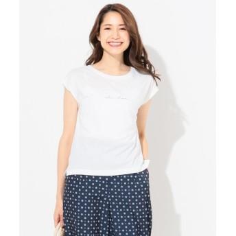【50%OFF】 エニィスィス(大きいサイズ) バックプリントロゴ Tシャツ レディース ホワイト系1 3 【any SiS(L SIZE)】 【セール開催中】