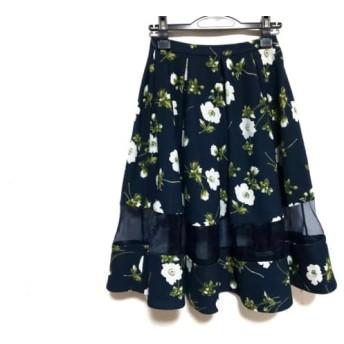 【中古】 フレイアイディー スカート サイズ0 XS レディース ダークネイビー ライトグレー マルチ