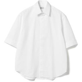BAGUTTA / シアサッカーストライプ ショートスリーブシャツ メンズ カジュアルシャツ WHITE/201 42