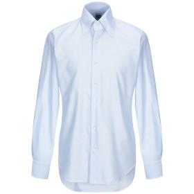 《期間限定 セール開催中》LEXINGTON メンズ シャツ スカイブルー 39 コットン 100%