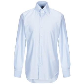 《期間限定セール開催中!》LEXINGTON メンズ シャツ スカイブルー 39 コットン 100%