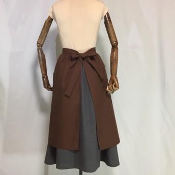 ギャザースカートのようなエプロン『チョコ』