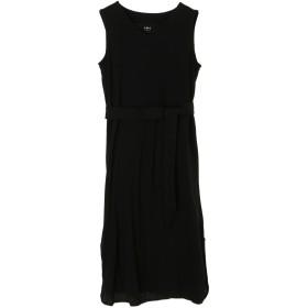 three dots 【ウォッシャブル】Travel Line Tank Dress ワンピース,BLACK