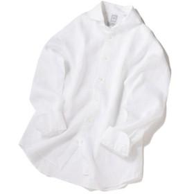 [マルイ] SD:【ALBINI】ウォッシュド リネン ソリッド ホリゾンタルカラーシャツ(ホワイト)/シップス(メンズ)(SHIPS)