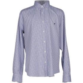 《期間限定 セール開催中》BROOKSFIELD メンズ シャツ ブルー 39 コットン 100%