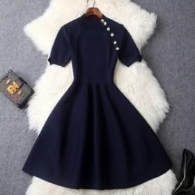 レトロ  Aライン ワンピース ドレス フレアスカート