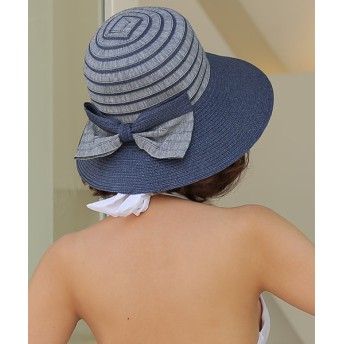 ANAP(アナップ)HOYUKI ボーダーマリン麦わら帽子