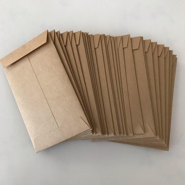 シンプル クラフト紙 ポチ袋 ぽち袋 封筒 30枚
