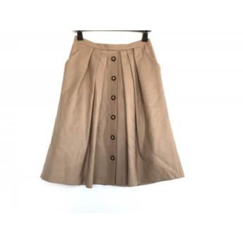 【中古】 エストネーション ESTNATION スカート サイズ36 S レディース ライトブラウン