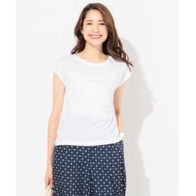 【50%OFF】 エニィスィス バックプリントロゴ Tシャツ レディース ホワイト系1 2 【any SiS】 【セール開催中】
