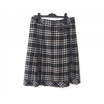 【中古】 ローズティアラ Rose Tiara スカート レディース 黒 マルチ チェック柄