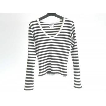 【中古】 アニエスベー agnes b 長袖Tシャツ サイズ1 S レディース 白 黒 ボーダー