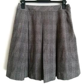 【中古】 エムズグレイシー スカート サイズ38 M レディース 美品 ダークブラウン ベージュ ピンク