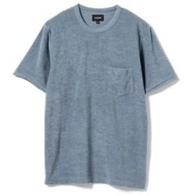 BEAMS / パイル クルーネック Tシャツ メンズ Tシャツ BLUE L