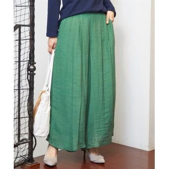 さらっと涼しげ楊柳スカンツ (レディースパンツ),pants