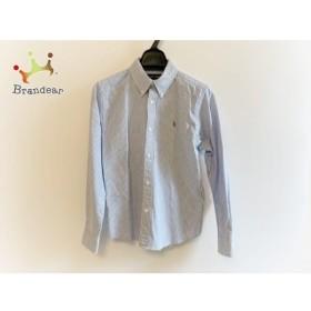 ラルフローレン RalphLauren 長袖シャツ サイズ160 メンズ 白×ブルー 子供服/ストライプ   スペシャル特価 20190710