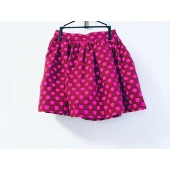 【中古】 ケイトスペード Kate spade ミニスカート サイズ0 XS レディース 美品 レッド ピンク 黒