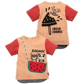 a1ae29c366e06 ZOOMIC(ズーミック)開き見せアップリケ半袖Tシャツ(男の子 子供服) T ...