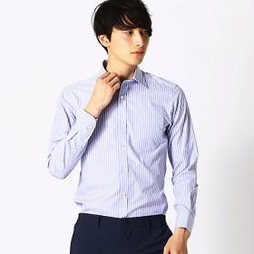 <COMME CA ISM (メンズ)> ストライプ ワイドカラー 長袖シャツ(4712HL08) ネイビー【三越・伊勢丹/公式】