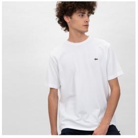 ラコステ 鹿の子クルーネックTシャツ(半袖) メンズ ホワイト 2(日本サイズS) 【LACOSTE】