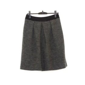 【中古】 ギャラリービスコンティ GALLERYVISCONTI スカート サイズ3 L レディース 美品 ダークグレー 黒