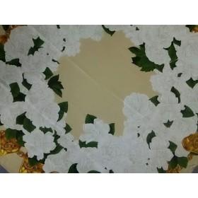 【中古】 シャネル CHANEL スカーフ ベージュ アイボリー マルチ 花柄