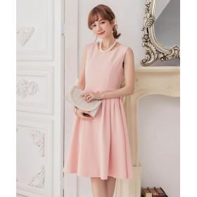 ドレス スター Aラインフレアノースリーブワンピース レディース ピンク XXLサイズ 【DRESS STAR】