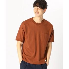 【60%OFF】 コムサイズム ポケット付 半袖 Tシャツ メンズ ブラウン L 【COMME CA ISM】 【セール開催中】