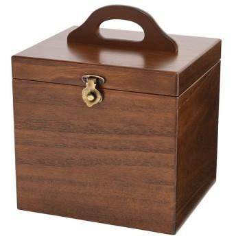 木製コスメティックボックス 収納ケース 日本製 メイクボックス 017-512 ブラウン ブラウン