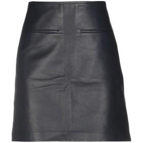 《期間限定 セール開催中》CELINE レディース ひざ丈スカート 鉛色 36 羊革(ラムスキン) 100%