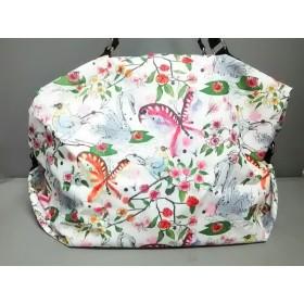 【中古】 レスポートサック LESPORTSAC ボストンバッグ 白 ピンク マルチ 花柄 レスポナイロン