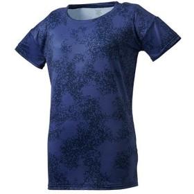 デサント(DESCENTE) レディース グラフィック Tシャツ ネイビー DMWNJA56 NV トレーニング スポーツウェア 半袖 シャツ トップス