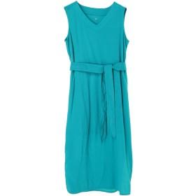three dots 【ウォッシャブル】Travel Line Tank Dress ワンピース,BLUE