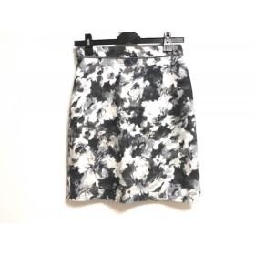 【中古】 ジャスグリッティー JUSGLITTY スカート サイズ2 M レディース ダークグレー 白 マルチ