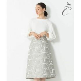 自由区 / ジユウク 【Class Lounge】PLATINA JACQARD スカート