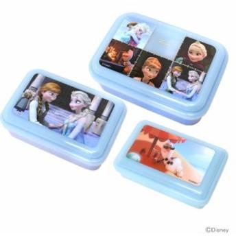 アナと雪の女王 ふわっと盛れる入れ子式シール容器3Pセット <ランチボックス・弁当箱>